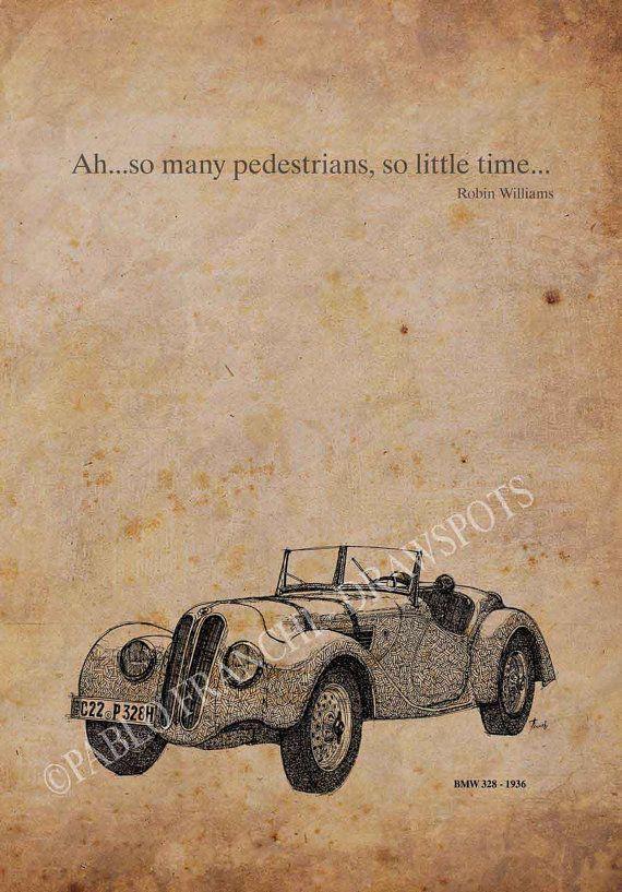 Bmw 328 1936 Car Quote Ahso Many Pedestrians So By Drawspots 38 00 Bmw 328 Car Quotes Bmw