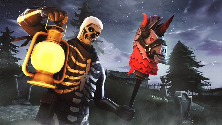 Games Wallpapers Fortnite S Skull Trooper And Ghost Portal To
