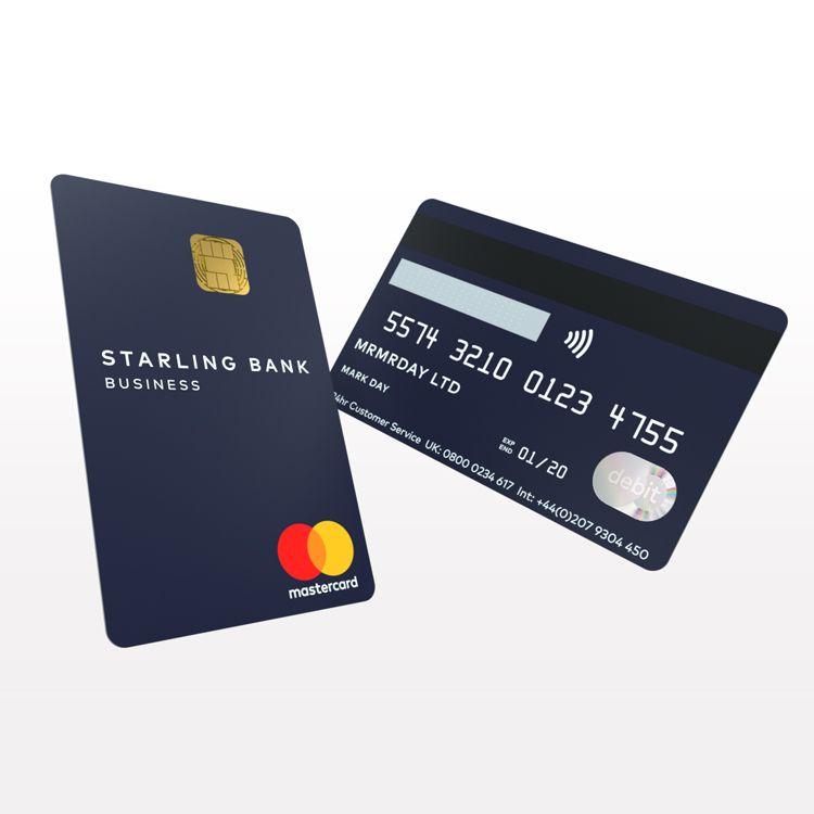 Online Bank Starling Introduces Vertical Bank Card Debit Card Design Credit Card Design Loyalty Card Design