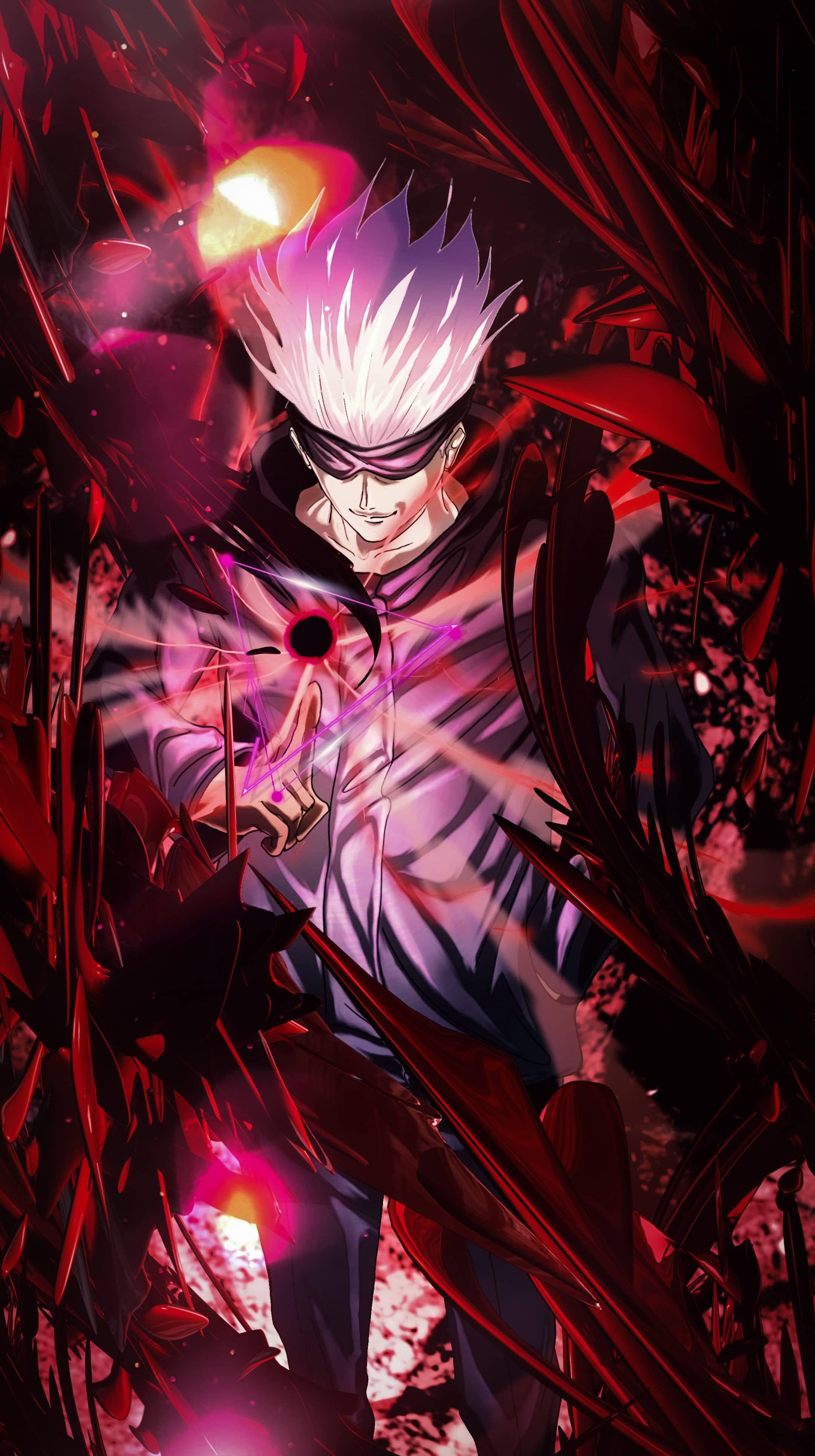 Jujutsu Kaisen Satoru Gojo Attack 4k Vertical Wallpaper In 2021 Jujutsu Cool Anime Pictures Anime Wallpaper Phone