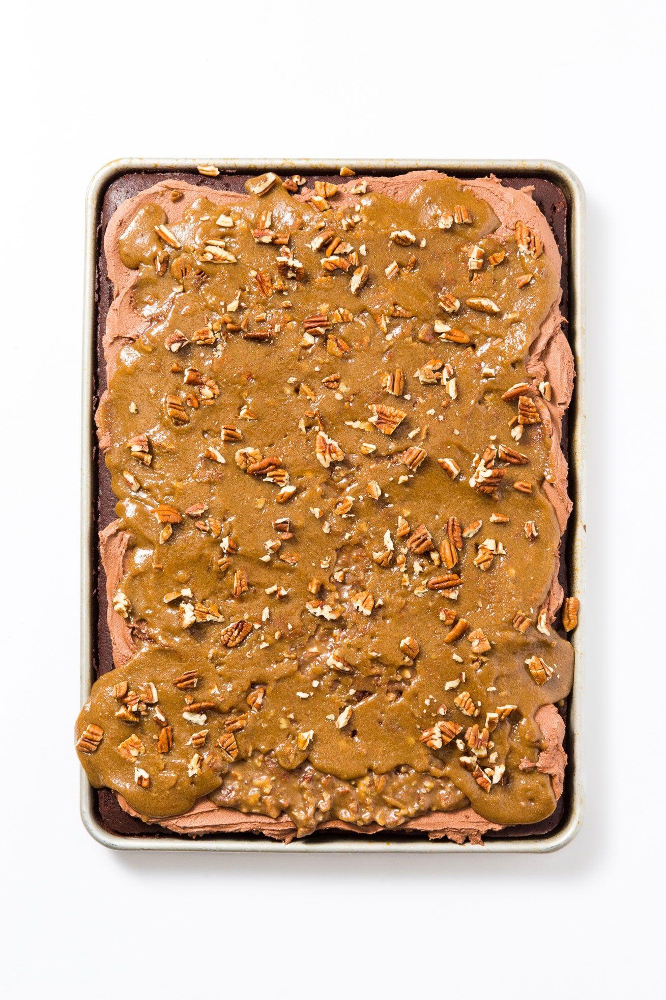 Bourbon chocolate praline sheet cake recipe praline