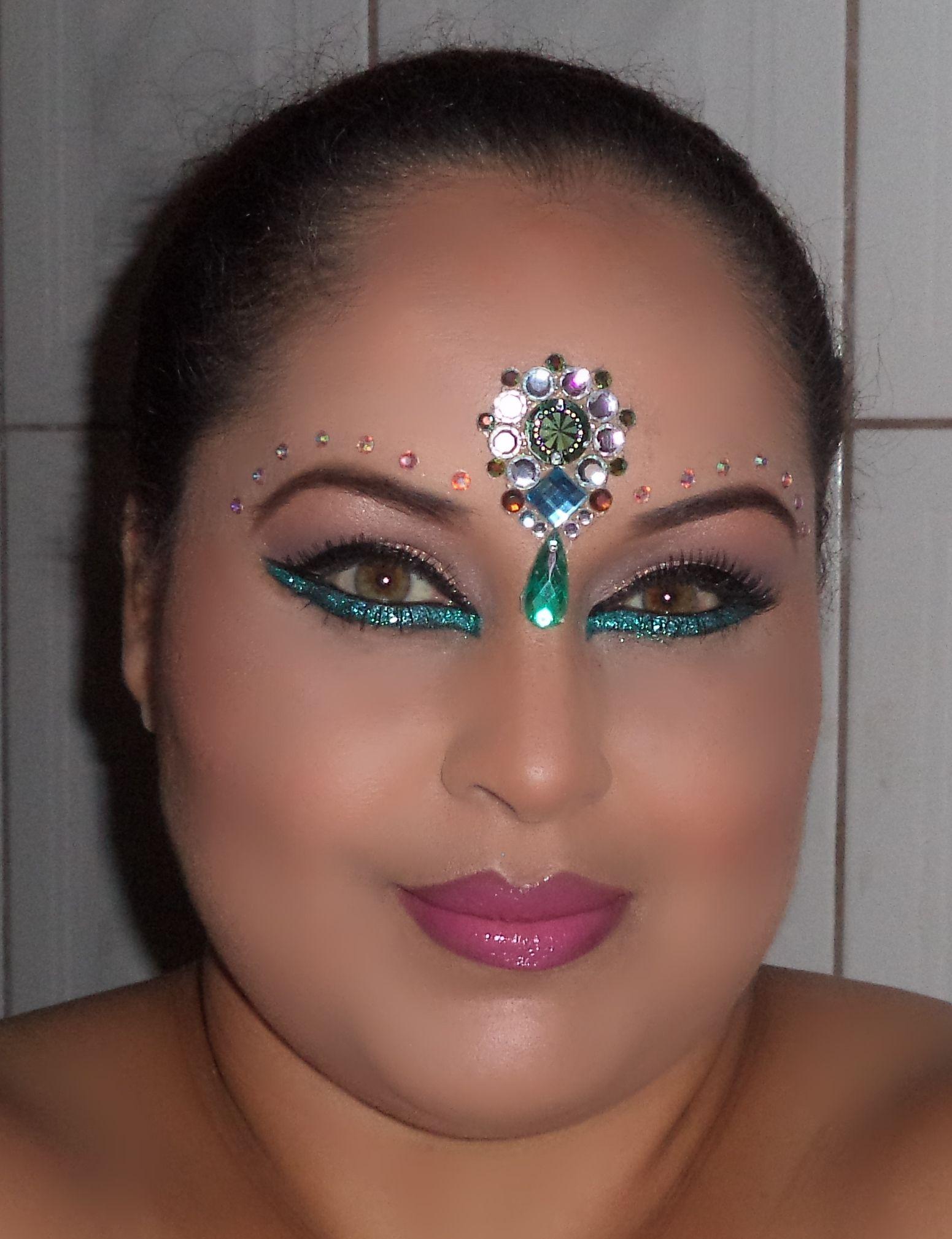 Carnival Makeup, Arabic Makeup, Glitter Makeup ...