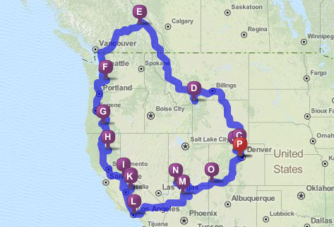 Road Trip Challenge The National Park To Park Touring Route National Parks