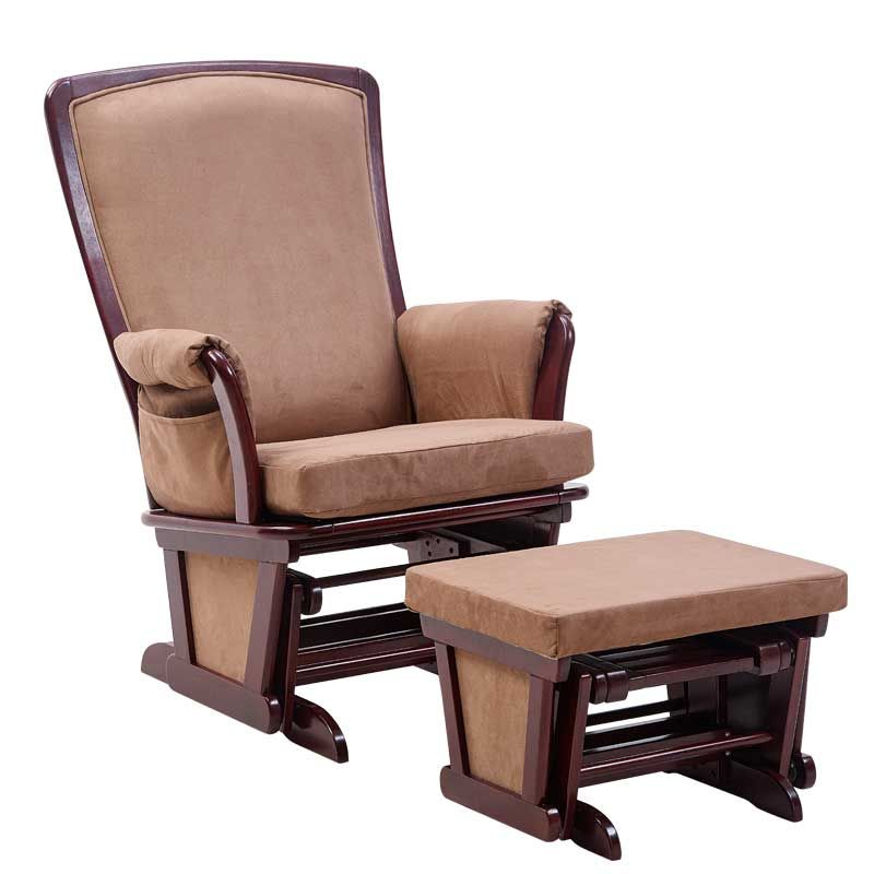 Find More Chaise Lounge Information About Wood Rocking Chair Glider And  Ottoman Set Living Room Furniture