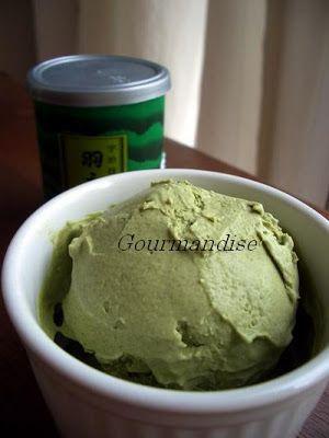 Sorvete de matcha (Chá verde)