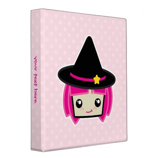 Kawaii Pink Haired Witch Binder