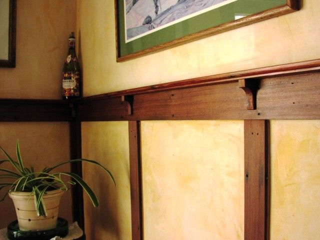 Lovely Chair Rail Craftsman Part - 8: Chair Rail: Old Fashioned Wooden Molding Fixed To A Wall At Dado Height.  Used To Stop The Backs Of Chairs From Rubbing Directly On The Wall.