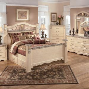 Faux Marble Top Bedroom Set