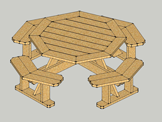 Deluxe Octagon Picnic Table Plans Octagon Picnic Table Plans