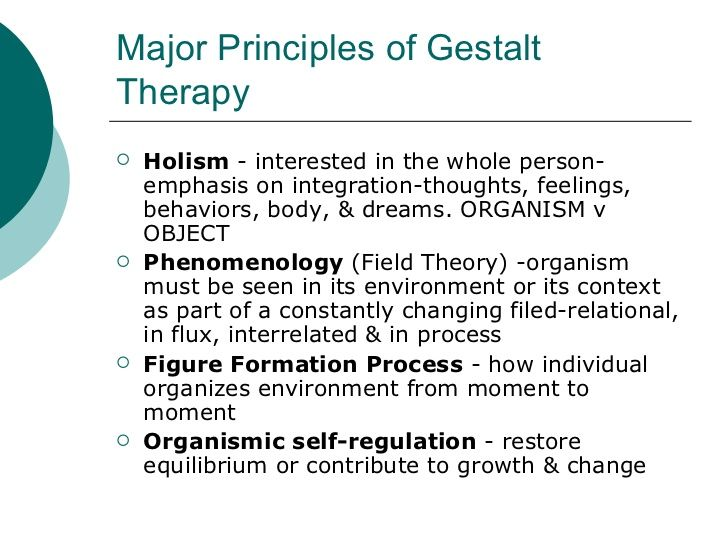 Gestalt Psychology Gestalt Therapy Therapy Counseling Counseling Psychology