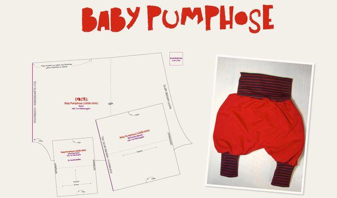 Baby Pumphose selber nähen Kostenloser Schnittmuster ❤mein Geburtsgeschenk für mein Baby❤
