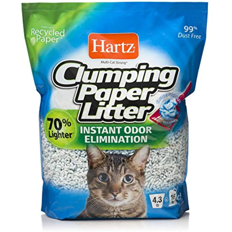 HARTZ MultiCat Lightweight Recycled Clumping Paper Cat