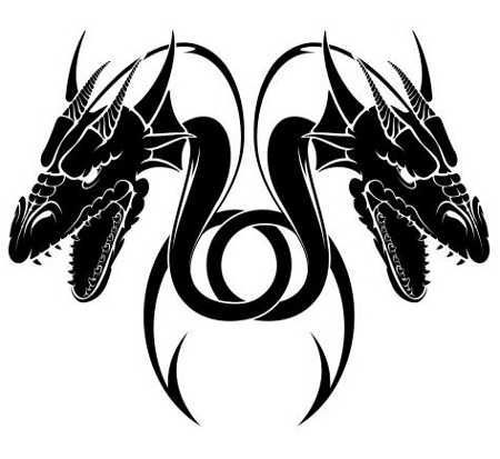 Photo of Tribal Dragon Tattoo Designs