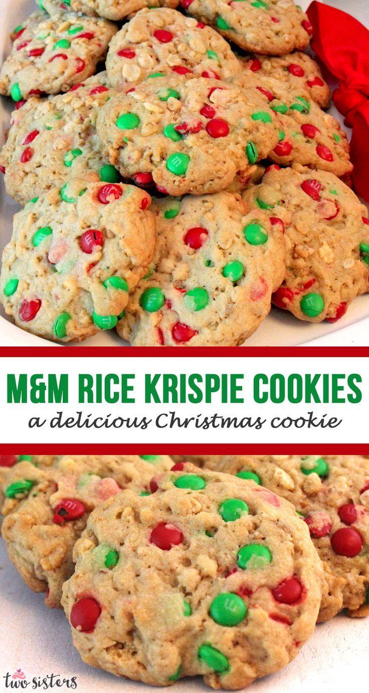 M M Rice Krispie Christmas Cookies Recipe Delicious Christmas Cookies Cookie Recipes Homemade Cookies Recipes Christmas