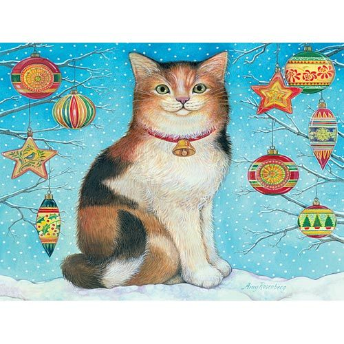 Another Good 300 Pc To Do With The Grandkids Cats Illustration Cat Art Christmas Cats
