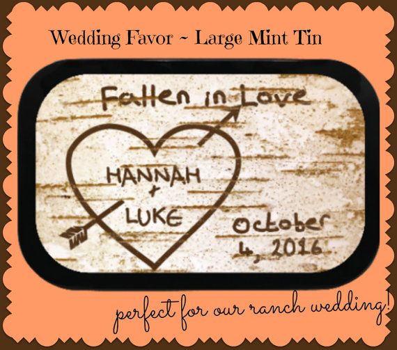24 Wedding Favor Mint Tins In 2 Sizes With Choice Of Candies Make