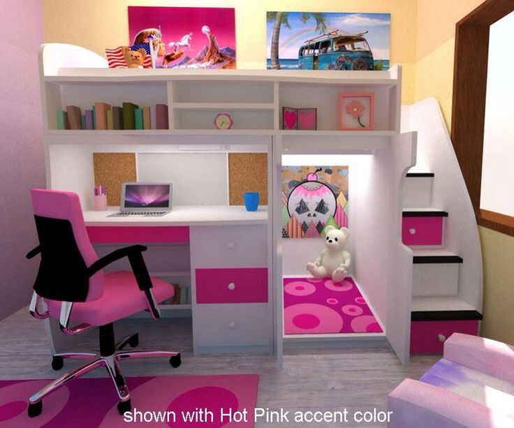 Cool Bed With Desk Underneath Cute Bedroom Ideas Cute Dorm