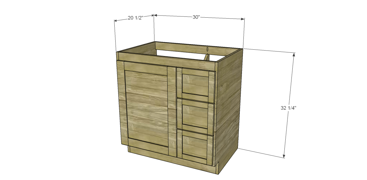 Beautiful Bathroom Cabinets Plans You Build Your Dream Bathroom And Cut The Two  Shelves And Structural Pieces Bathroom Vanity Plans This Free Woodworking