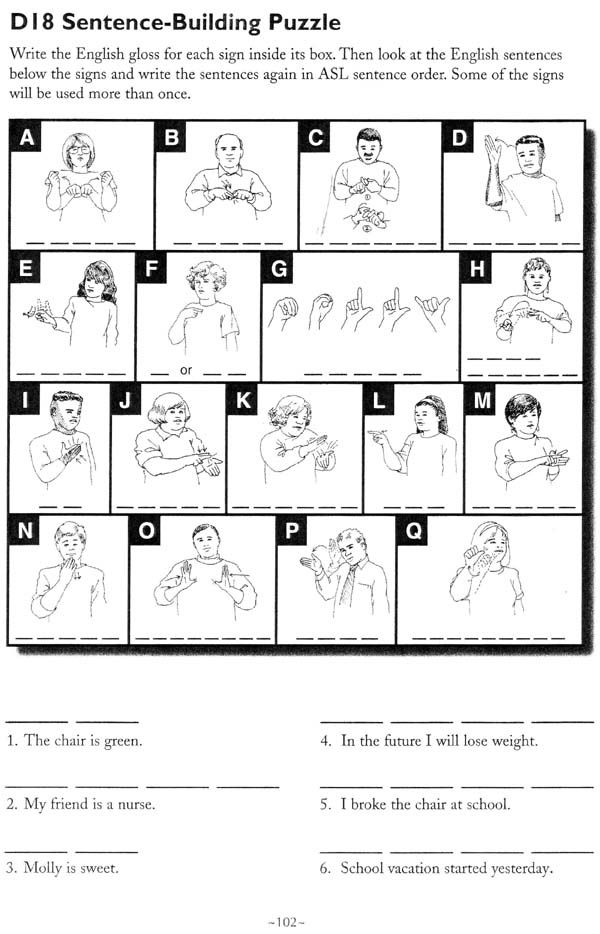 The American Sign Language Handshape Puzzle Book by Linda ...