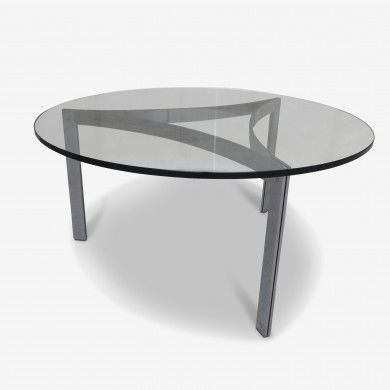 Table Basse Italienne Ronde En Verre Annees 70 A Retrouver Sur Kolectiv Design Table Basse Mobilier De Salon Table