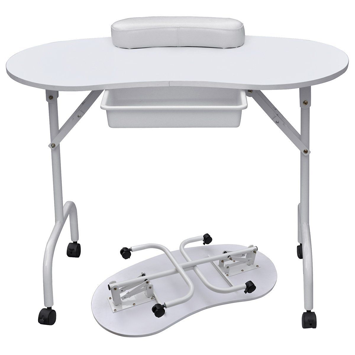 Foldable & Portable Manicure Table Nail Technician Desk