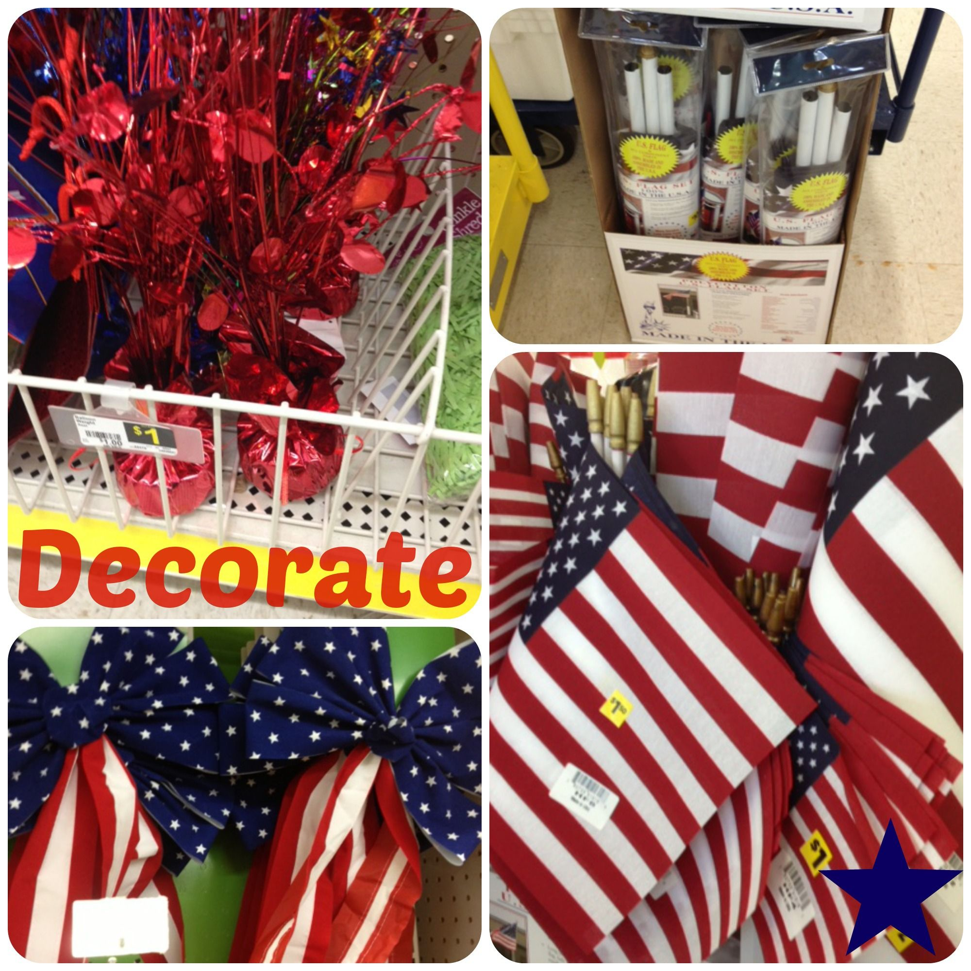 July 4th Inspiration At Dollar General July 4th Inspiration