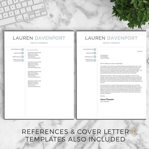 Resume Templates For Pages Modern Resume Template For Word And Pages  Creative Modern