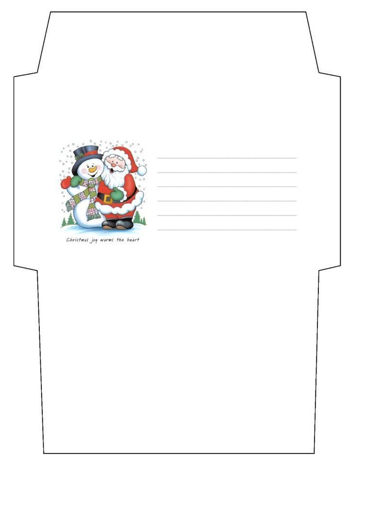 Christmas Envelope Template By Cpchocccc  MikulsSanta Claus