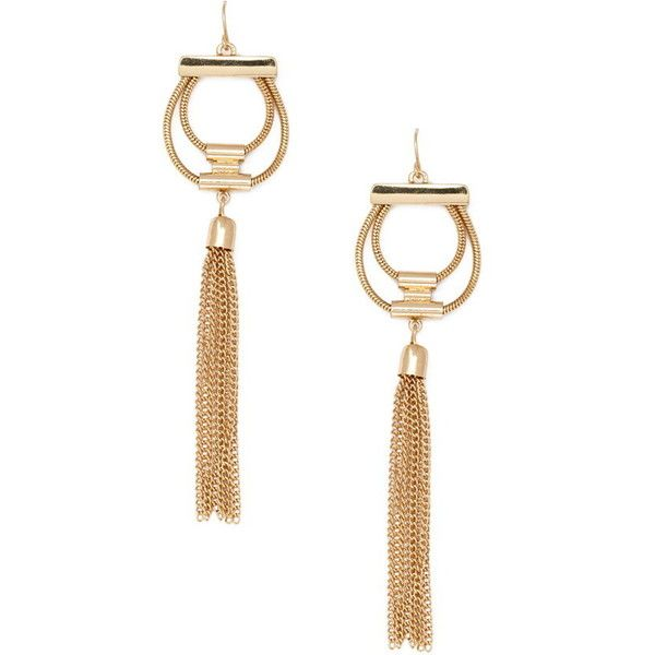 Forever 21 Cutout Chained Drop Earrings 29 Brl Liked On Polyvore Featuring Jewelry