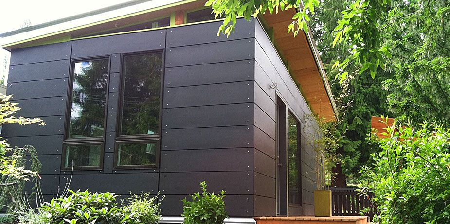 Modern Day Work Sheds Hardiplank siding Modern and House remodeling