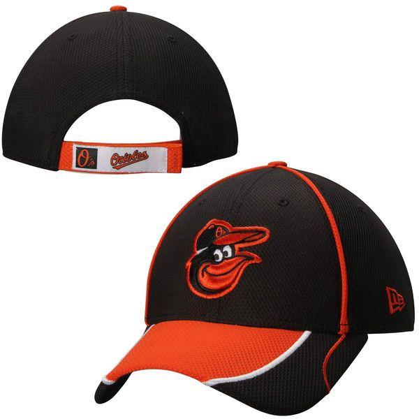 0b61cb447c4a5 Mens Baltimore Orioles New Era Black Fan Wave 9FORTY Adjustable Hat ...