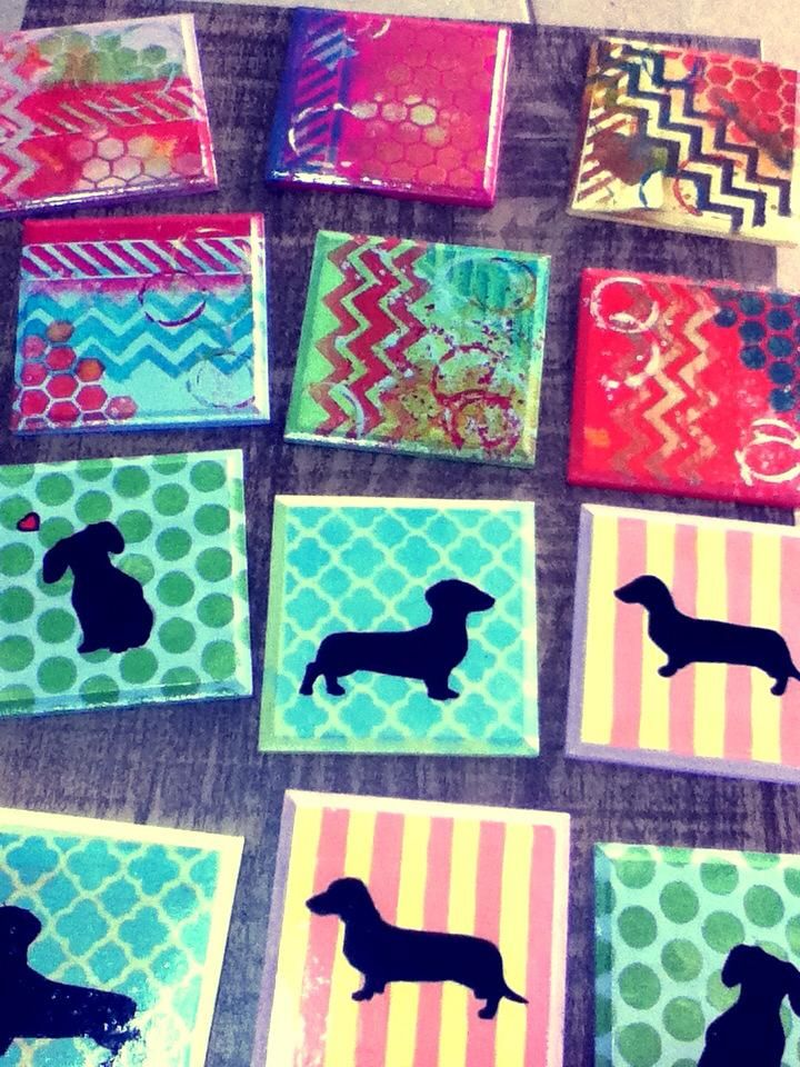 #Coasters  #DIY  #DogCoasters  #Doxie