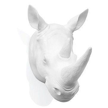 I Think Would Get The Coolest Mom Award If Incorporated This Into Our Living Room Rhino Head Wall Plaque From Z Gallerie