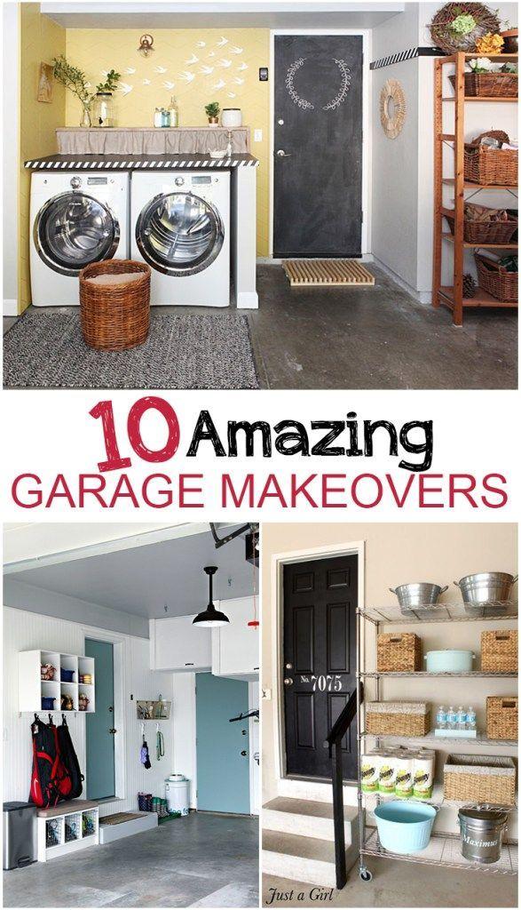 10 Garage Makeover Projects With Images Garage Makeover Garage Remodel Garage Floor