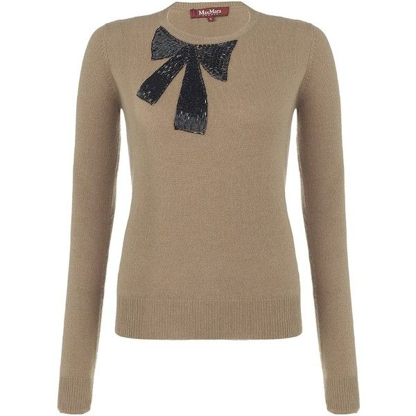 MaxMara Studio Bow Jumper found on Polyvore