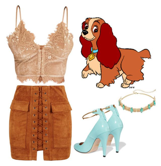 """""""ᒪᗩᗪY"""" by lulalalala ❤ liked on Polyvore featuring Gucci, lady, dogs, disneycharacter, LadyAndTheTramp and Disneysets"""