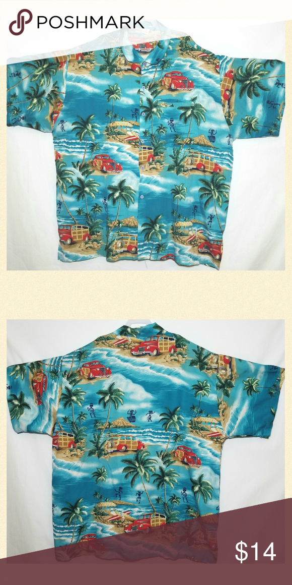 614b4146 Rima Men's Beach Wear Hawaiian Shirt Size XL Short sleeve button up tropical  hawaiian shirt Measurements: 29.5