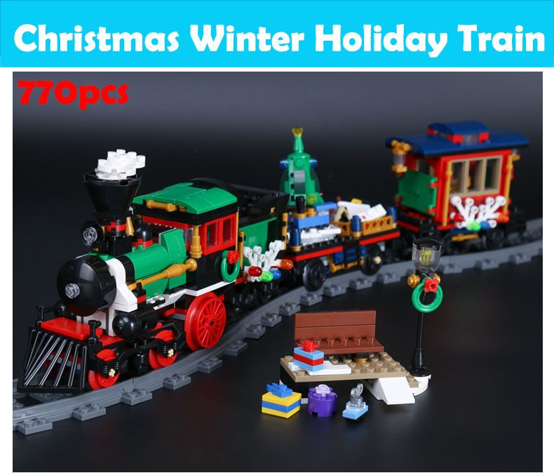 Lepin The Christmas Winter Holiday Train Set Educational Building
