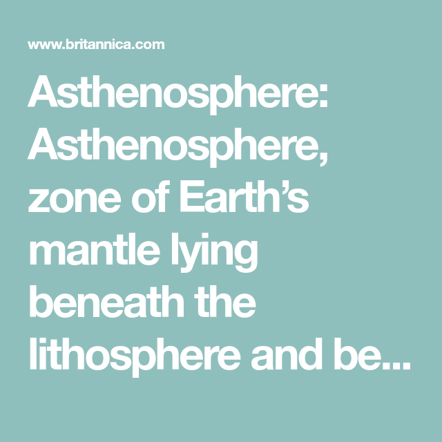 Asthenosphere Geology Subduction Zone Earth S Mantle Convection Currents