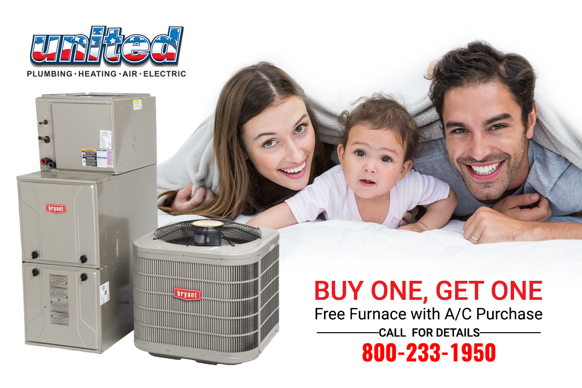 Buy an AC, get a FREE furnace! Stay local, pay less. Call