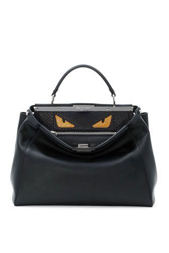 Monster Eyes Peekaboo Bag, Black Yellow by Fendi at Neiman Marcus ... 27d24368f37