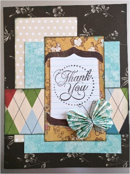 Great design for using your paper collection Layers top to bottom - color lined paper