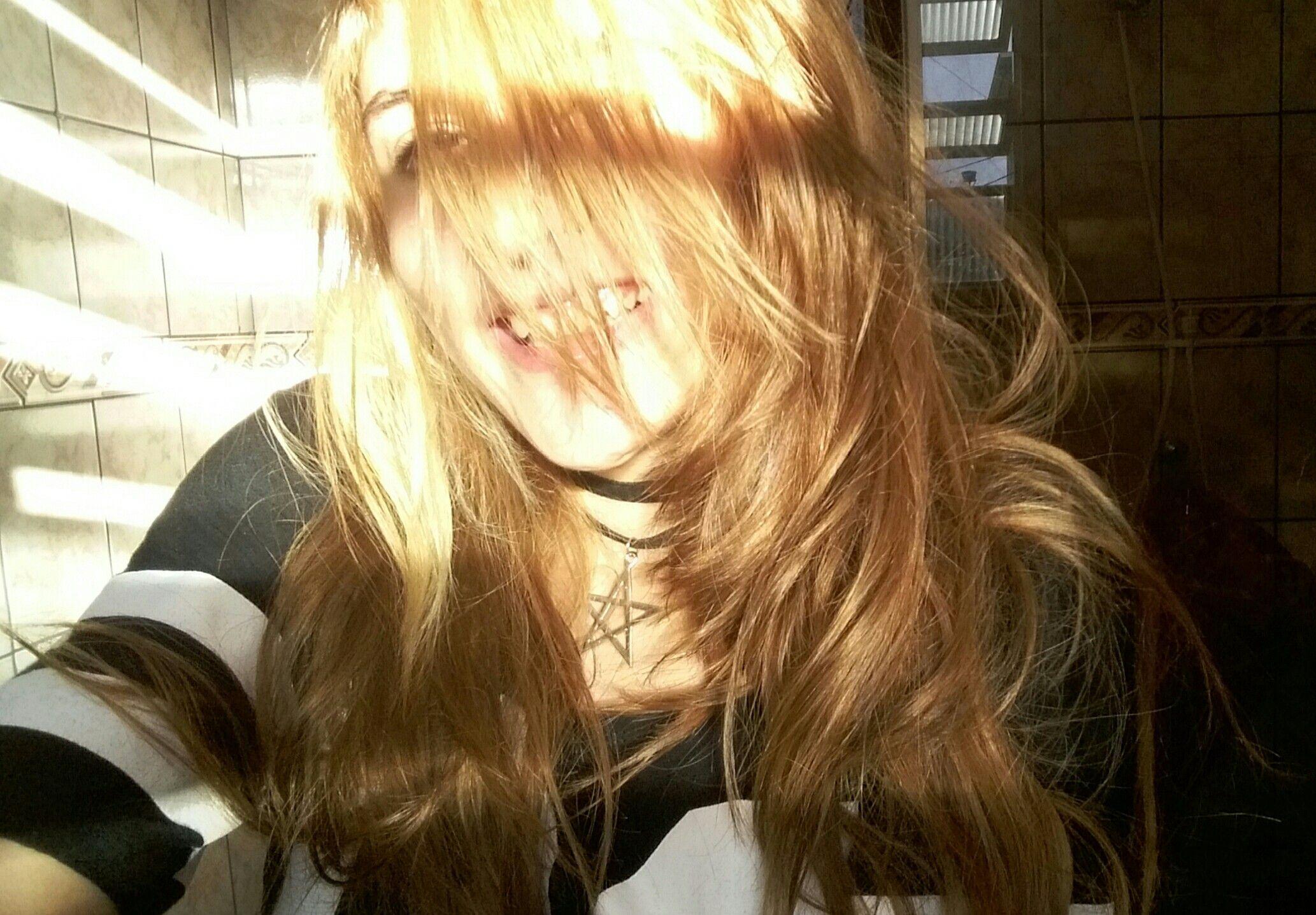 Meu cabelo ruivo ._.