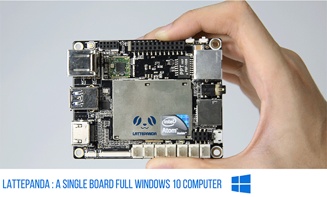 LattePanda is featured with quad-core 1 8Ghz, 2/4G RAM, 32