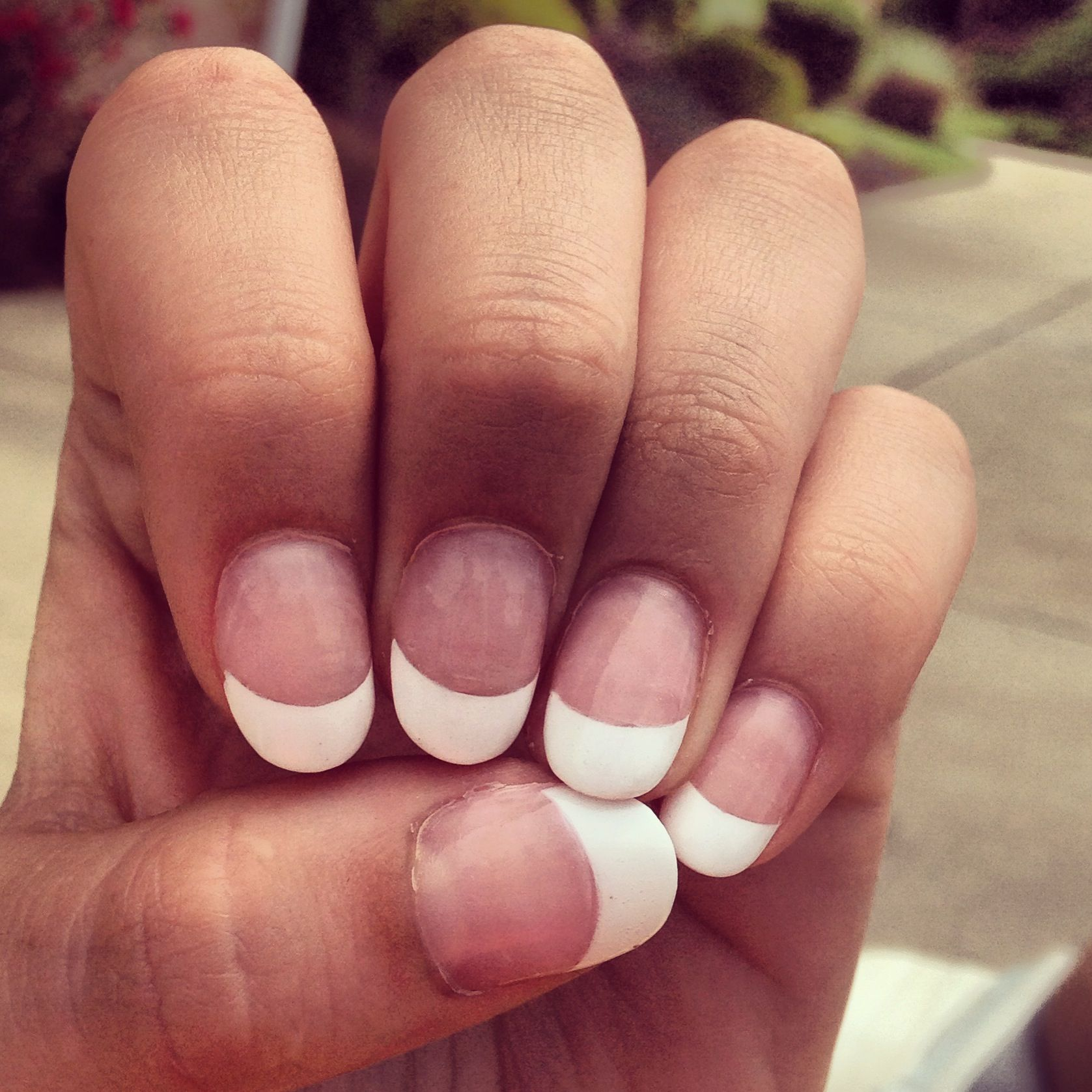 French manicure!!! I kind of like these little tiny ones! I also ...