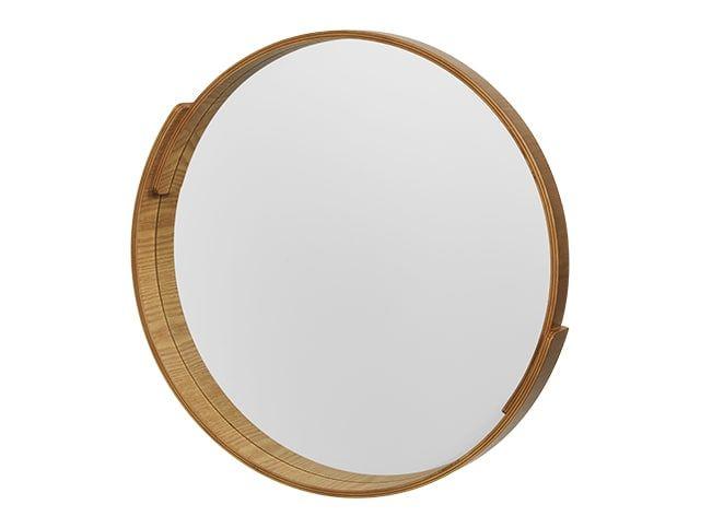 Ronde Spiegel Ikea : V&a ronde spiegel 50 x 50 cm naturel bewerkt hout slaapkamer