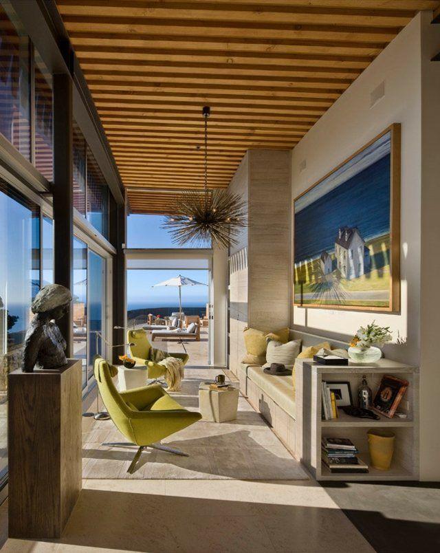holzdecke wohnzimmer landhausstil modern design - Modernes Wohnzimmer Im Landhausstil