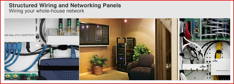 Whole House Structured Wiring Networking Set Ups Cabinets Panels Picture Structured Wiring Home Electrical Wiring House