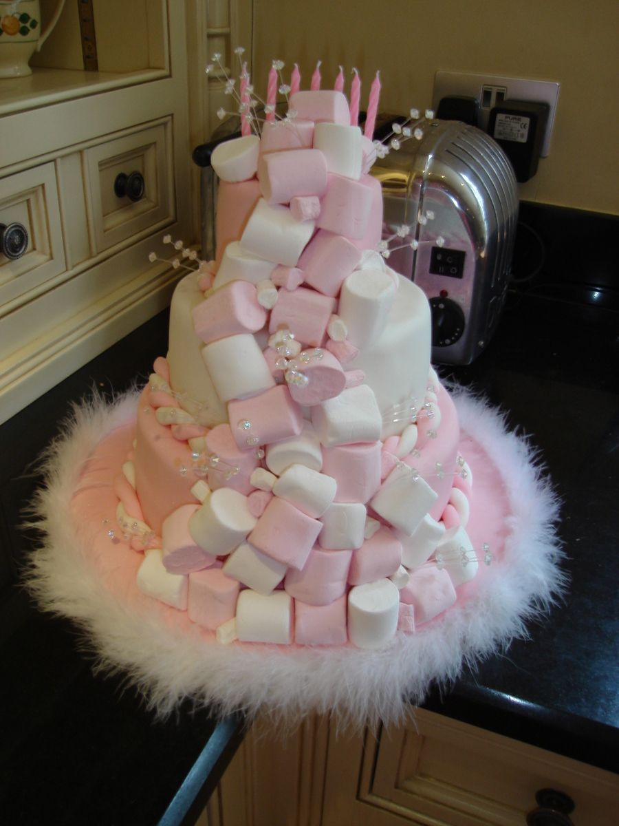 Marshmallow Birthday Cake On Cake Central Baking