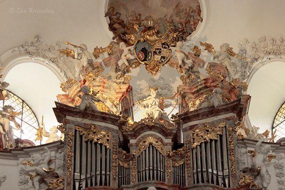 Die Raumfee: Füssen . Orgel in der ehemaligen Klosterkirche St. Mang